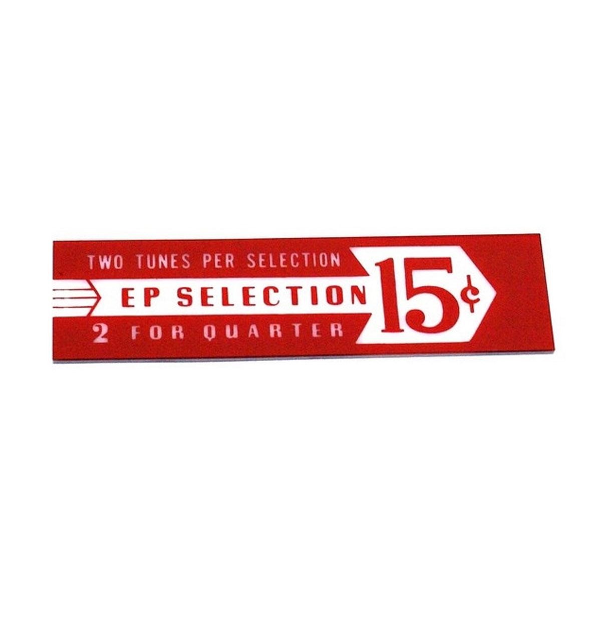 Seeburg EP prijskaart in drum rood model V - VL - KD200 - Rechts