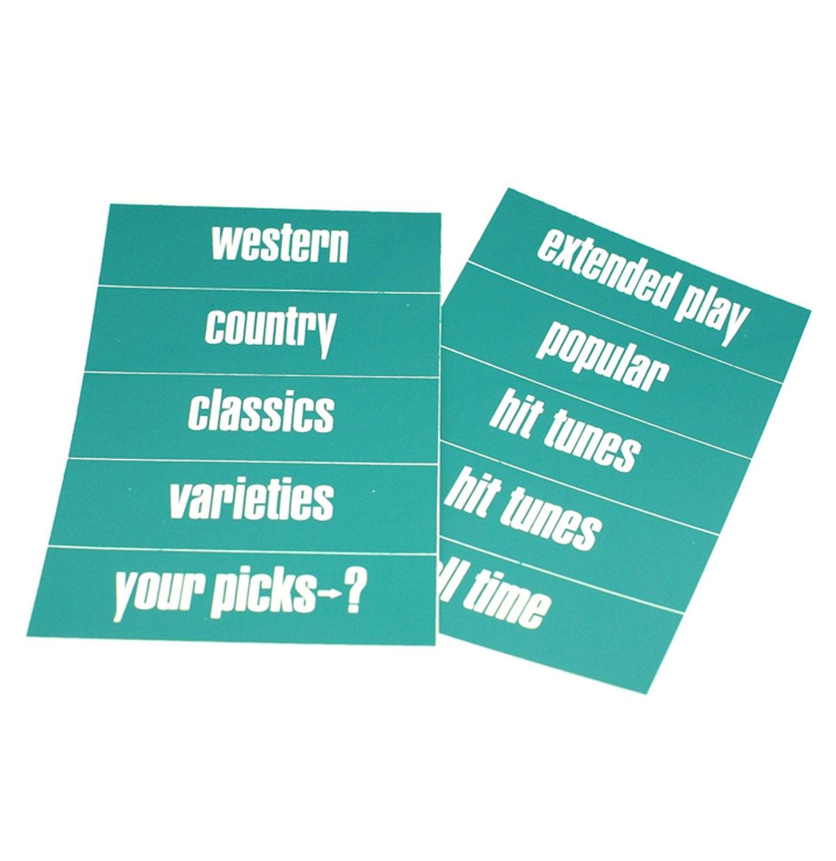 Ami set classificatie strips model Continental 1