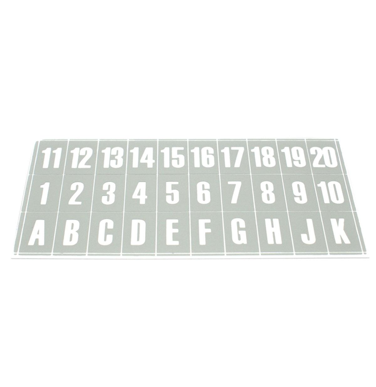 Ami H en I Letters en Nummers voor Druktoetsen