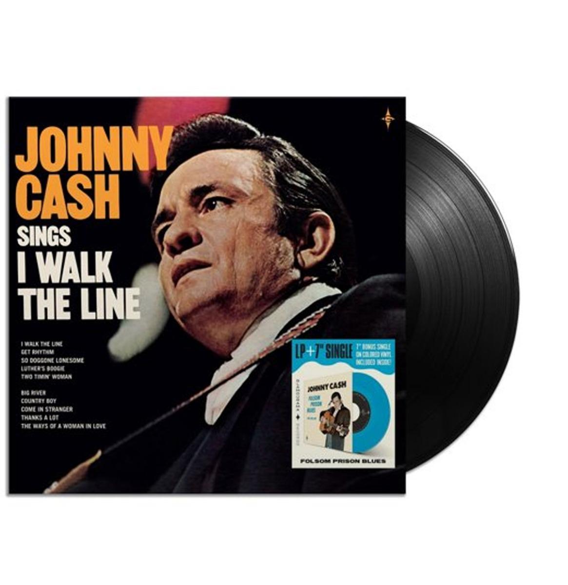 Johnny Cash - Sings I Walk The Line - Inclusief 7 Inch Op Gekleurd Vinyl