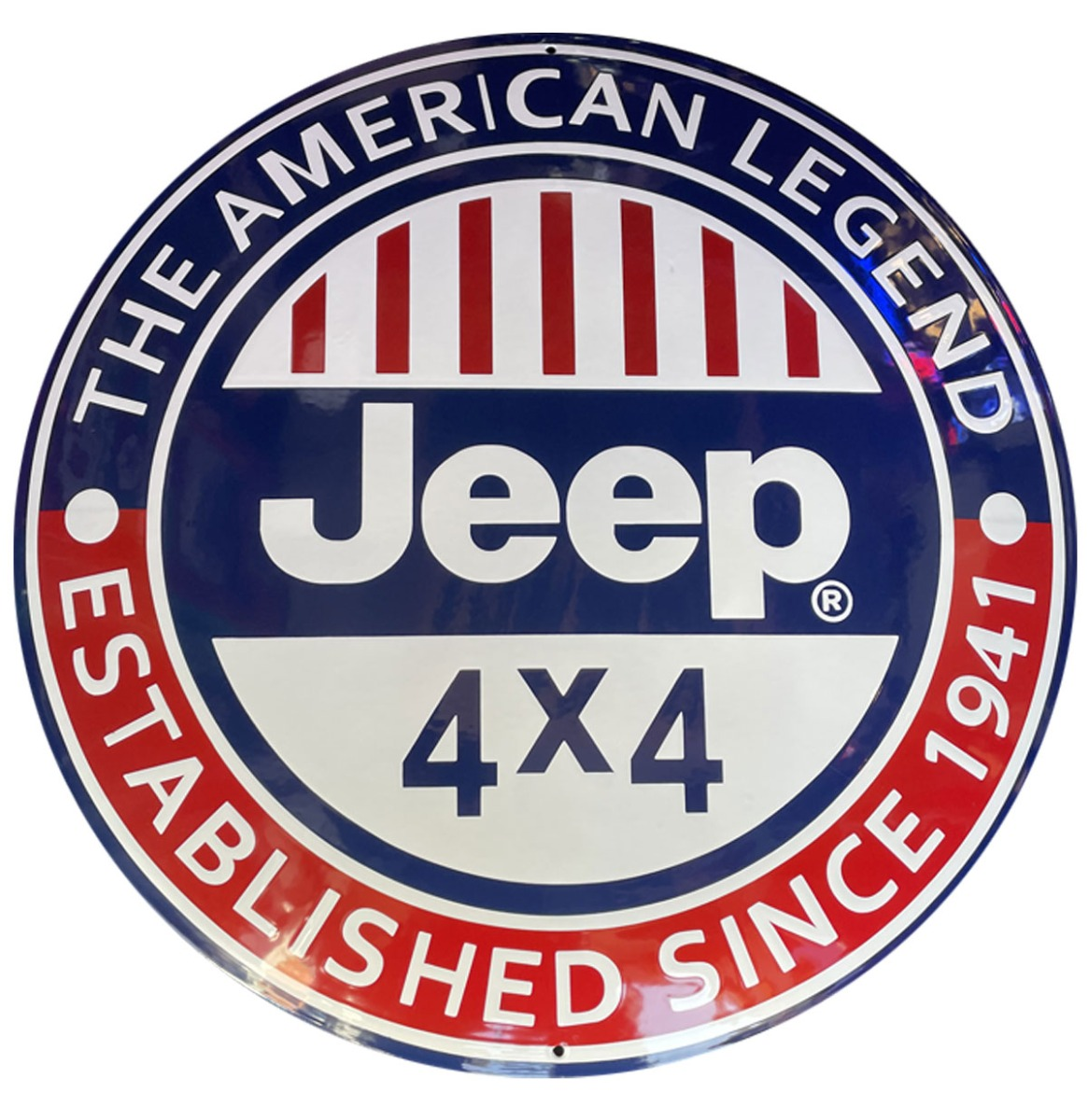 Jeep The American Legend Emaille Bord - 60 cm ø