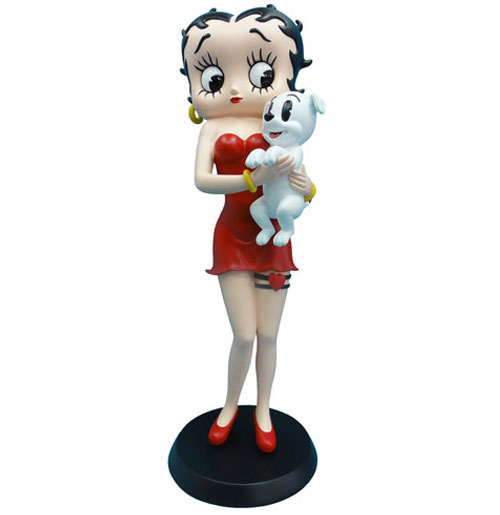 Betty Boop holding Pudgy beeldje