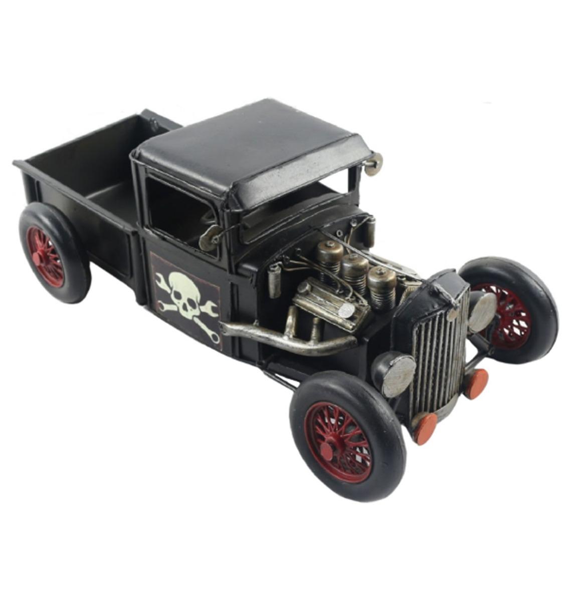 fiftiesstore Hot Rod Zwart Metalen Model 33 cm