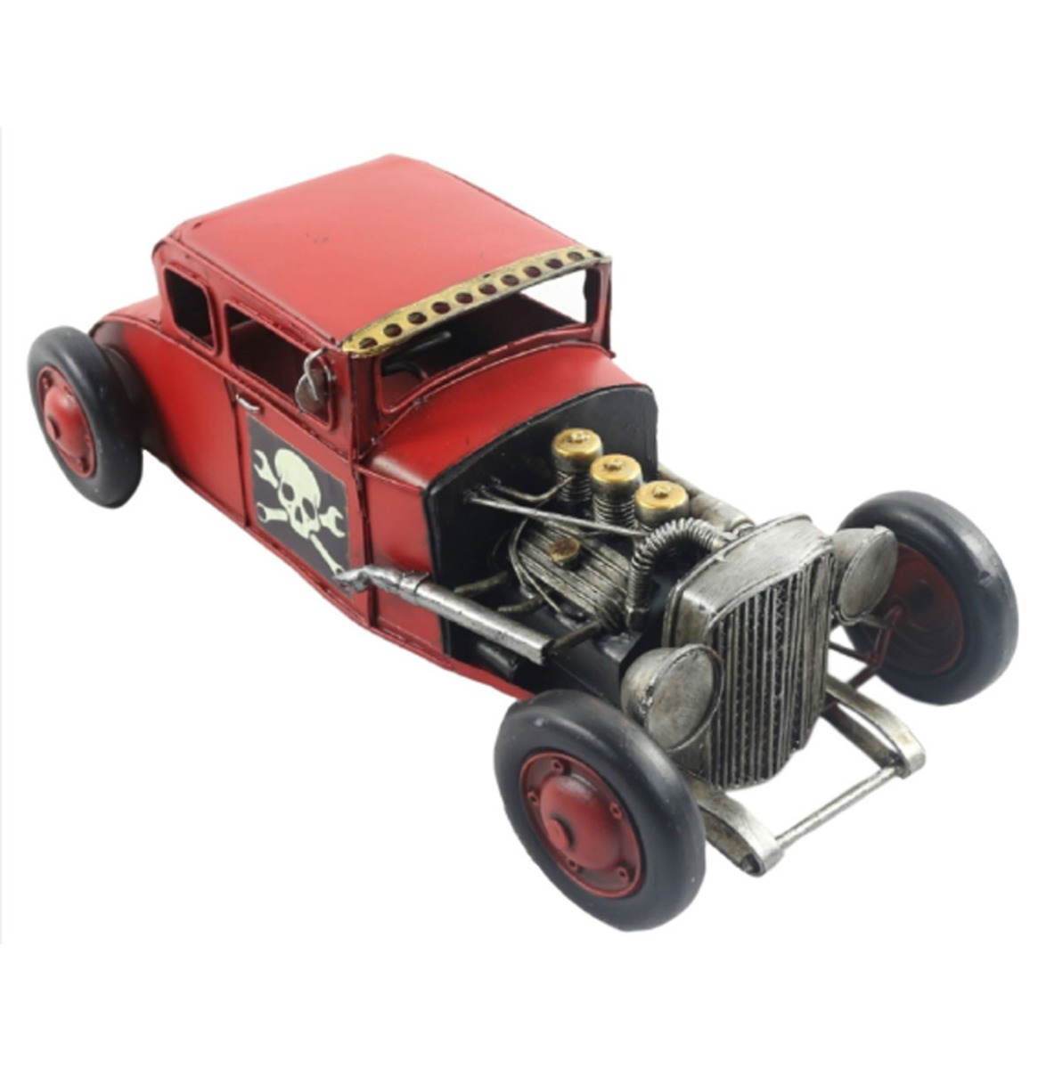 fiftiesstore Hot Rod Rood Metalen Model 32 cm
