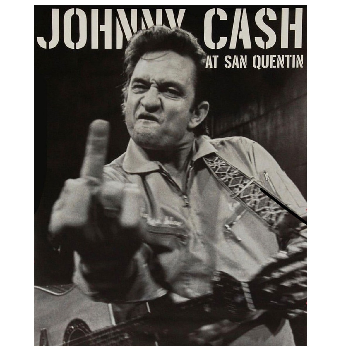 Johnny Cash At San Quentin Magneet