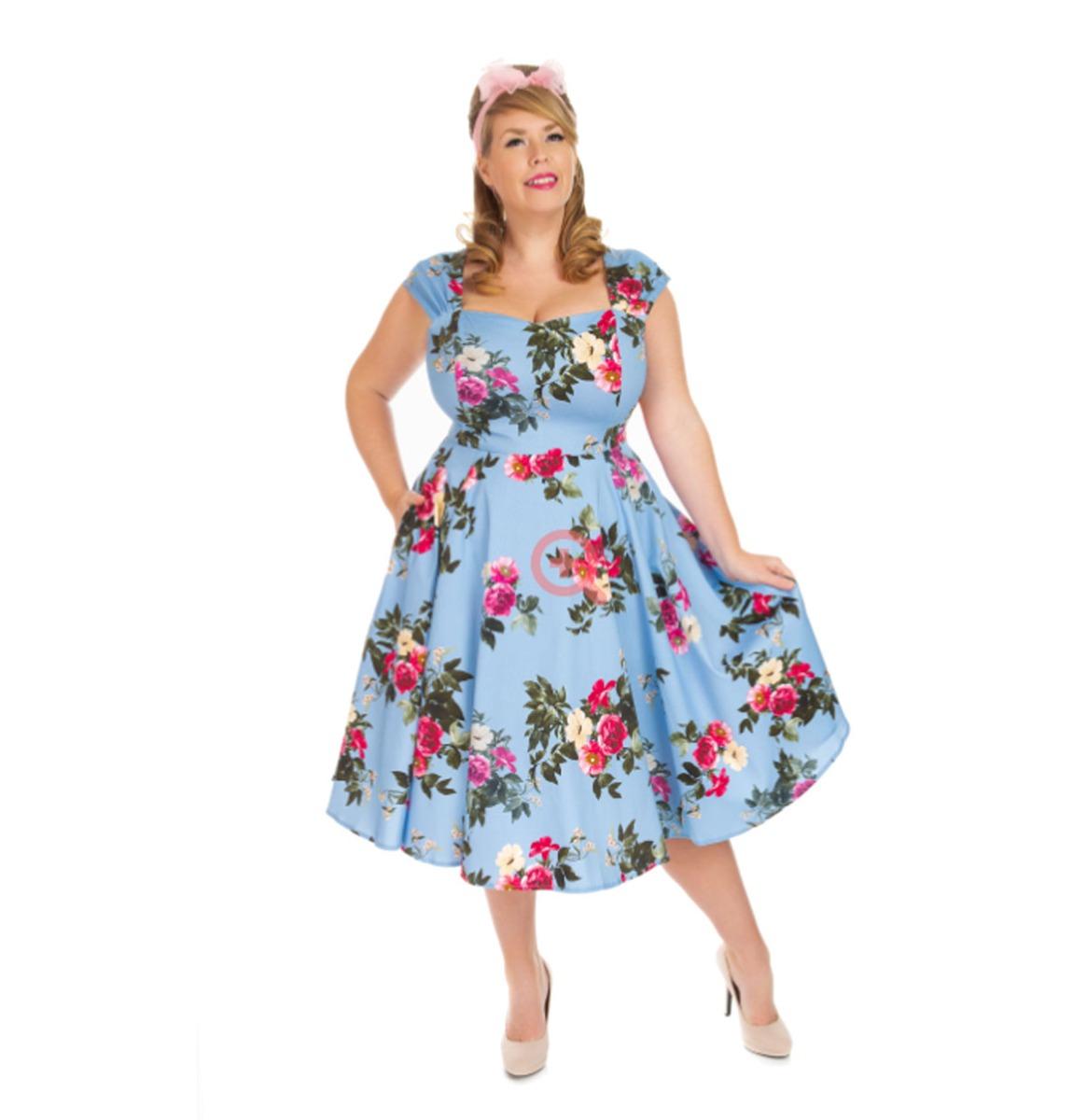 Hearts & Roses Jolene Floral Jurk Blauw