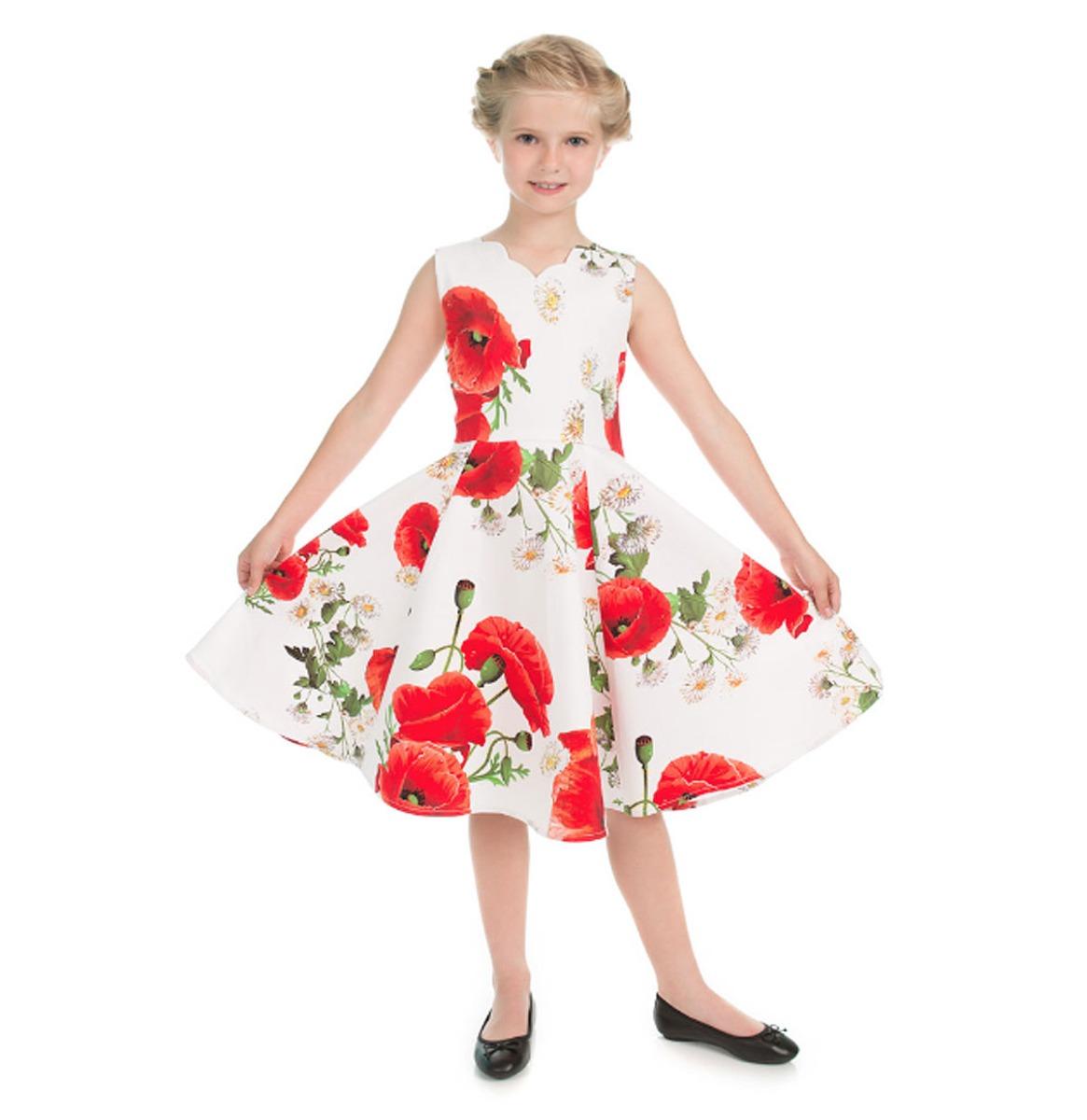 Hearts & Roses Opium Poppy Floral Kids Jurk