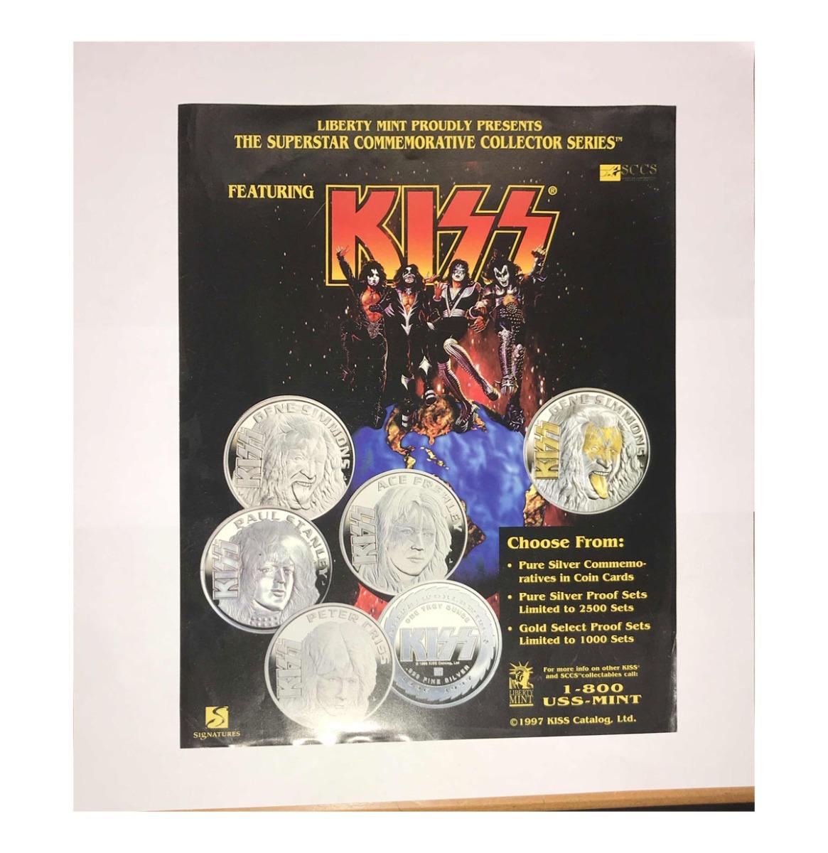 Originele Kiss Flyer - Liberty Mint 1997