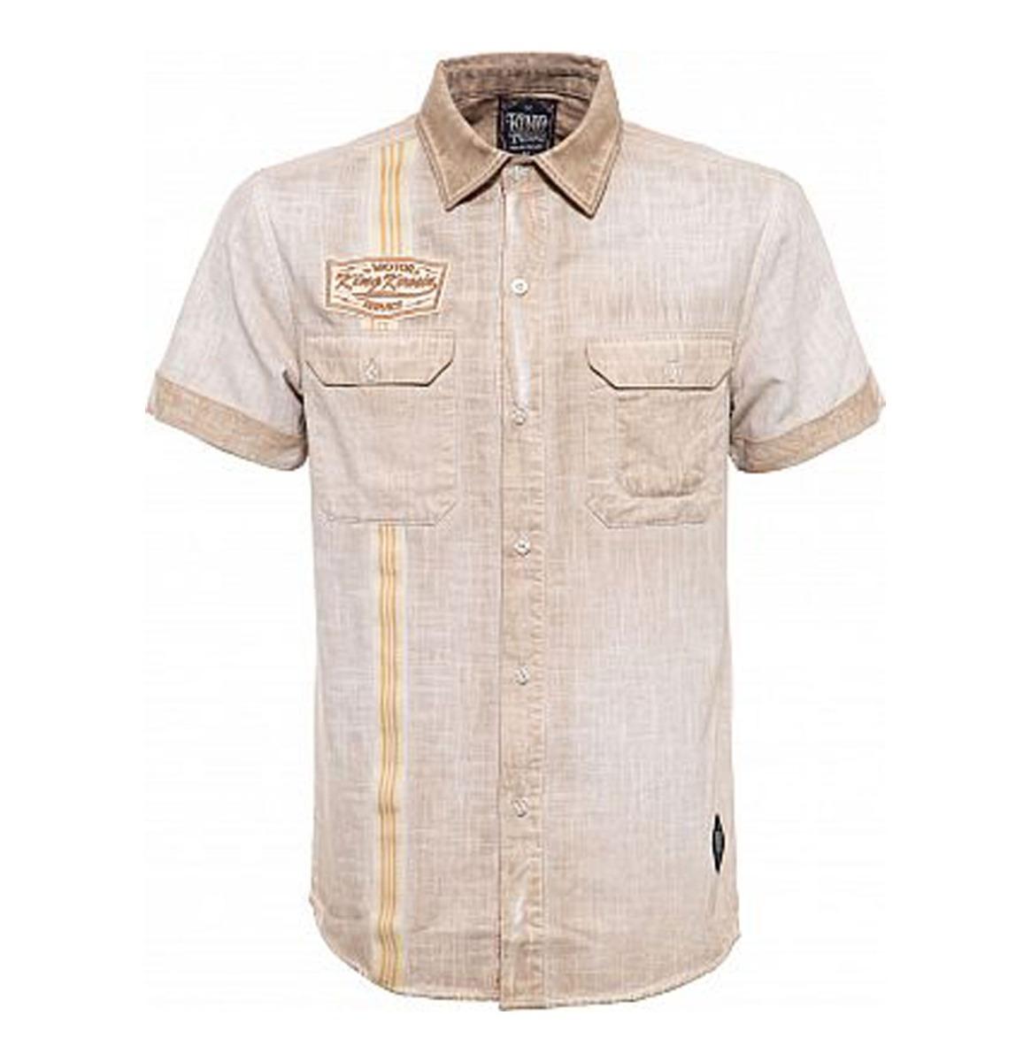 King Kerosin Motor Service Worker Shirt Beige