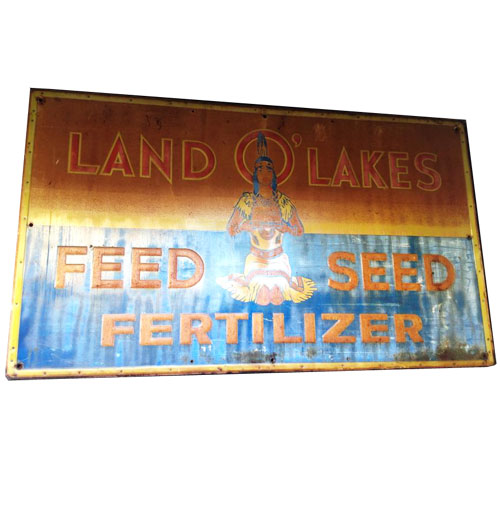 Land of Lakes Feed Seed Fertilizer origineel reklamebord