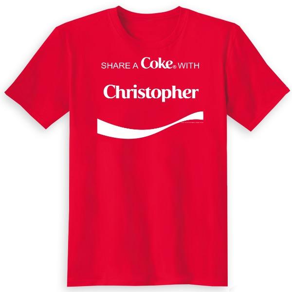Coca-Cola Gepersonaliseerd Share A Coke T-Shirt