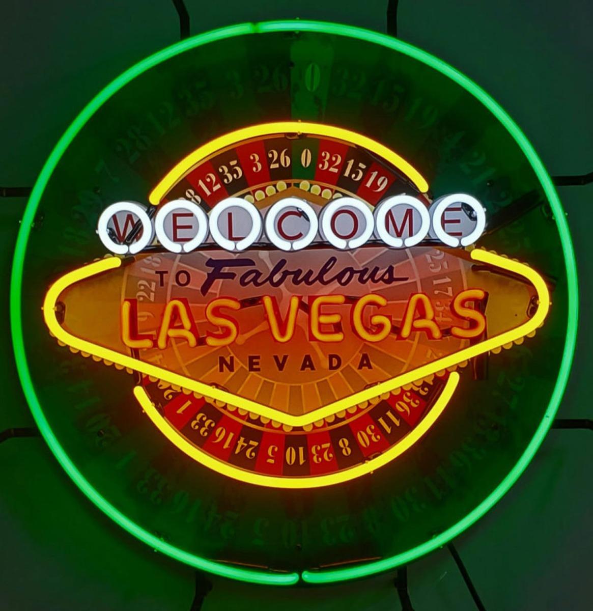 Las Vegas Roulette Neon Verlichting - 60 cm