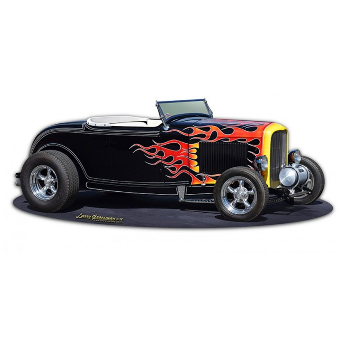1932 Hot Rod Deuce Roadster Zwaar Metalen Bord 45 x 18 cm