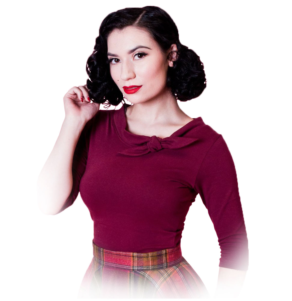 Lily Top Bordeaux Rood
