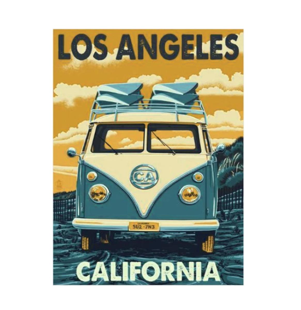Los Angeles California VW Bus Magneet