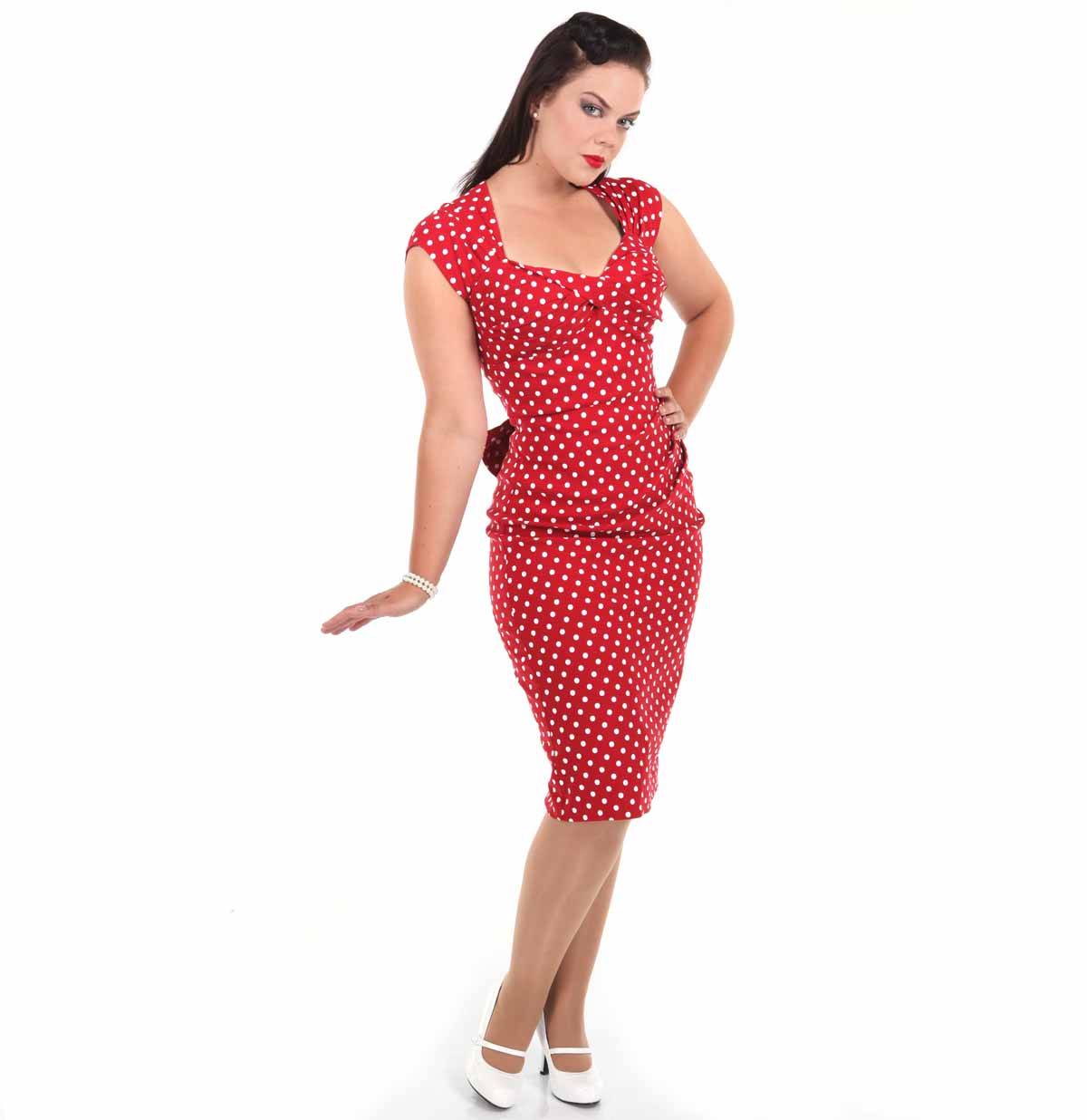 Love Dress, Red/White Dots