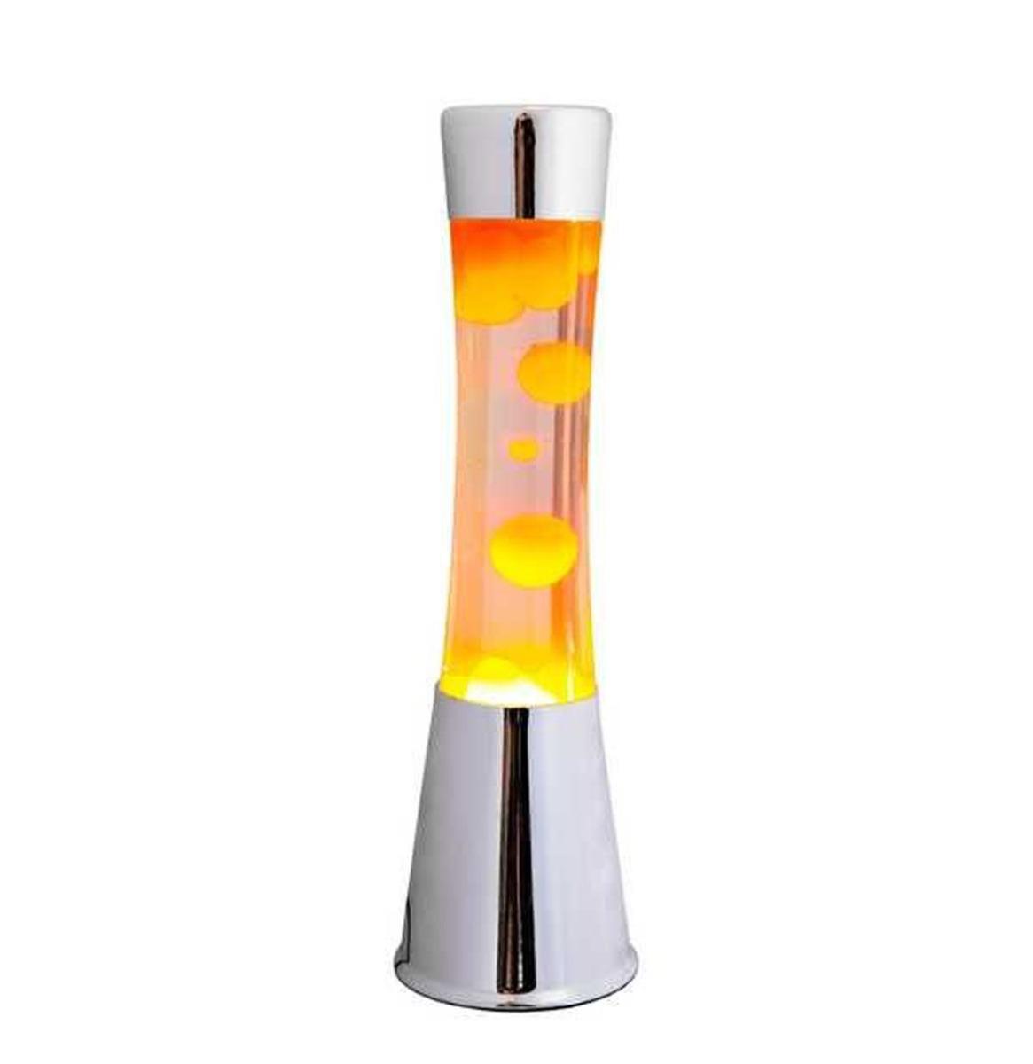 Fisura Lava Lamp - Chroom Met Oranje Lava