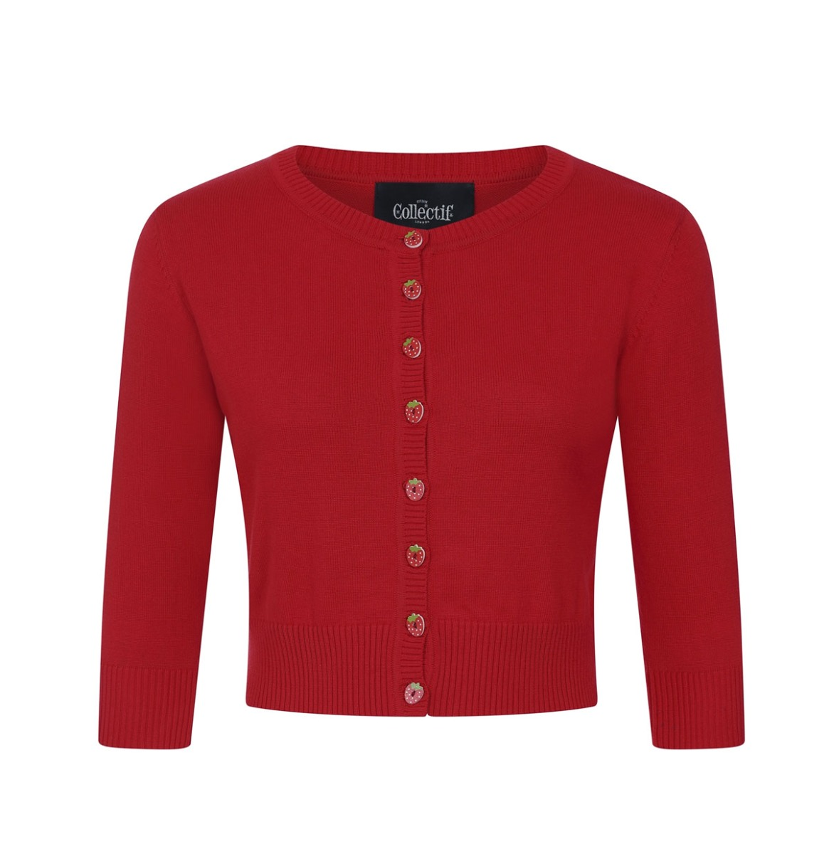 Fiftiesstore Collectif Lucy Strawberry Vest Rood