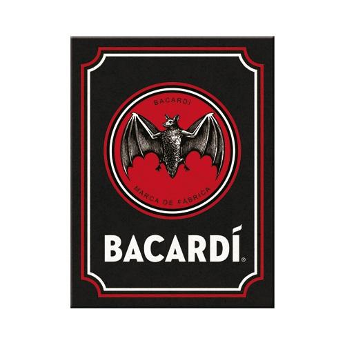 Magnet Bacardi - Logo zwart