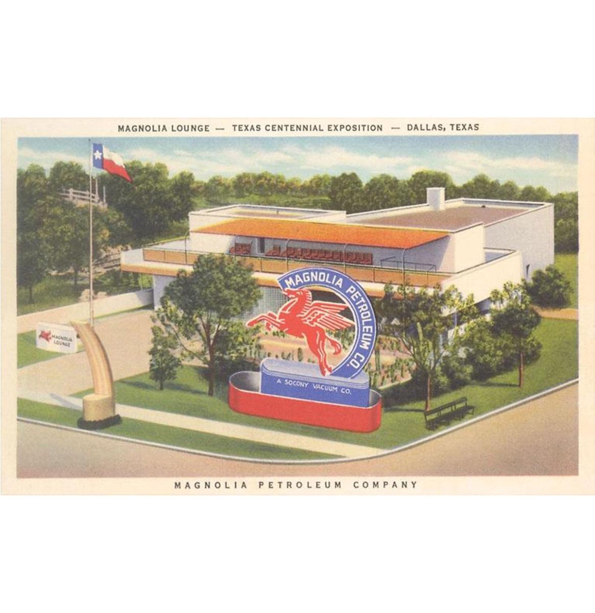 Magnolia Lounge, Dallas - Vintage Foto, Kunst Afdruk