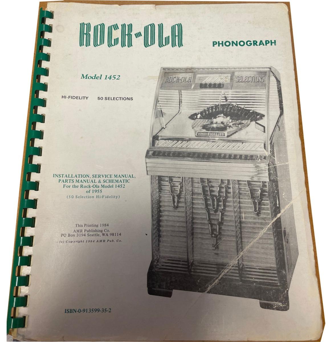 Rock-Ola Manual 1452 - Tweedehands