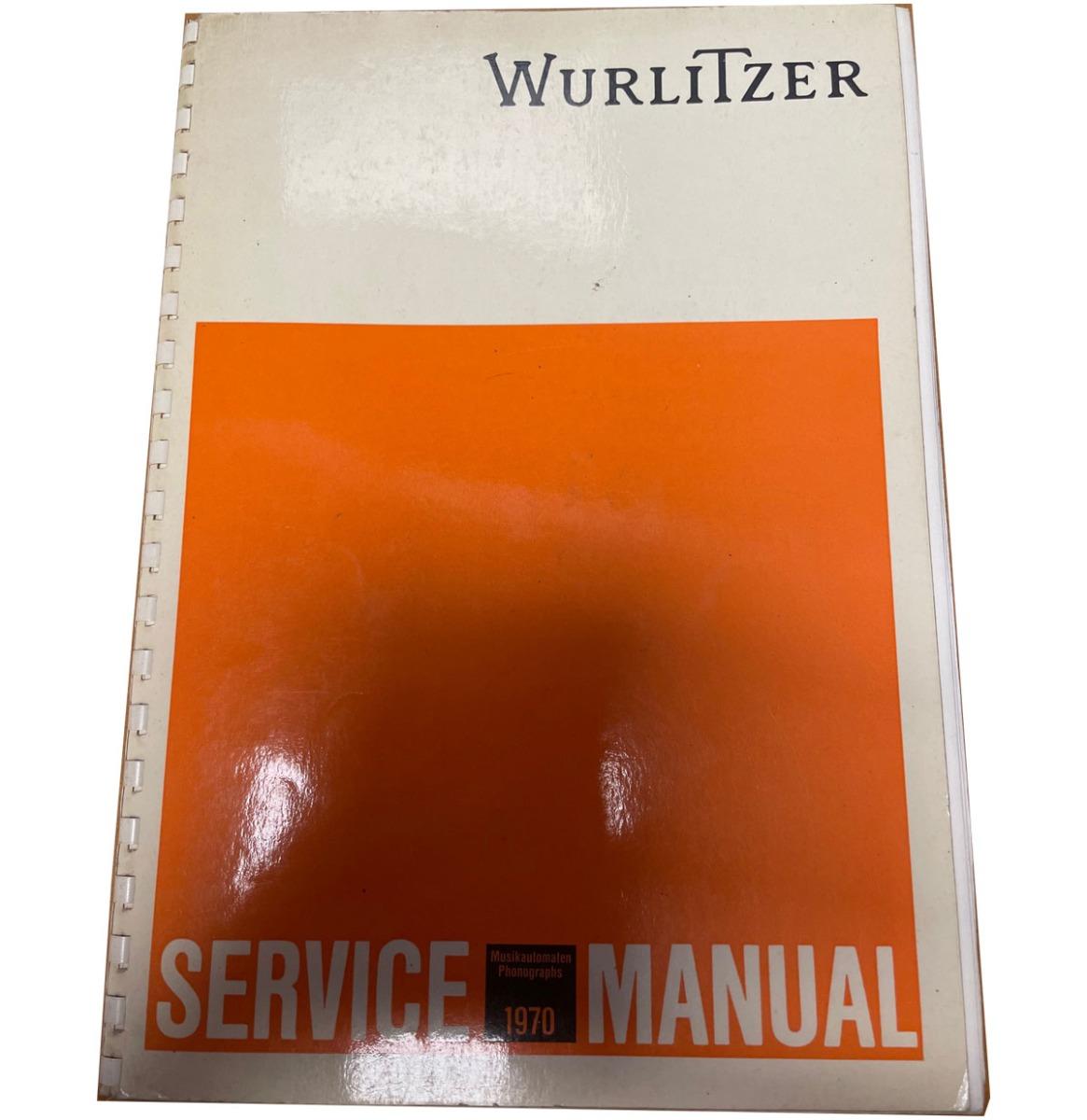Wurlitzer Manual 1970 Origineel