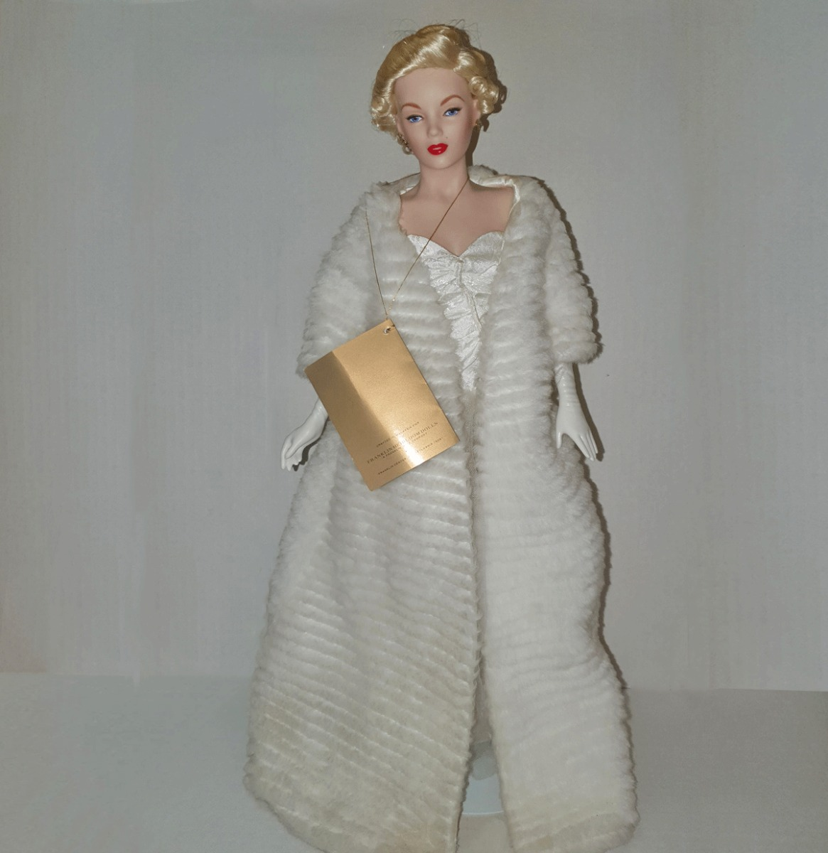 Franklin Mint Marilyn Monroe Porcelain Doll  All about Eve  with original box