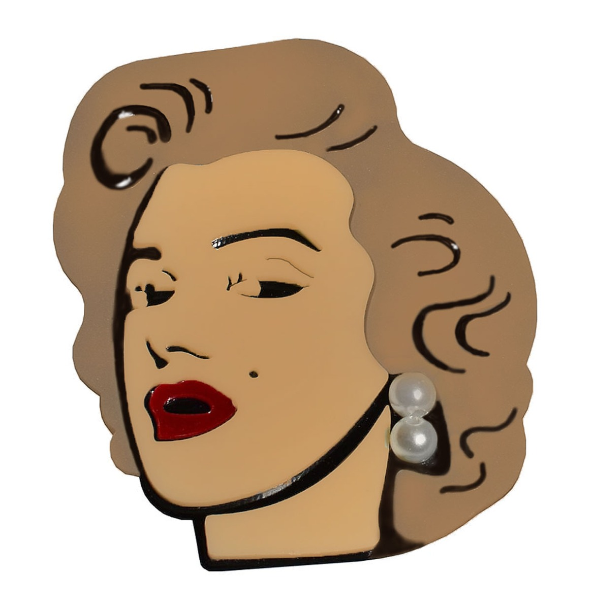 Marilyn Pop Art Brooch