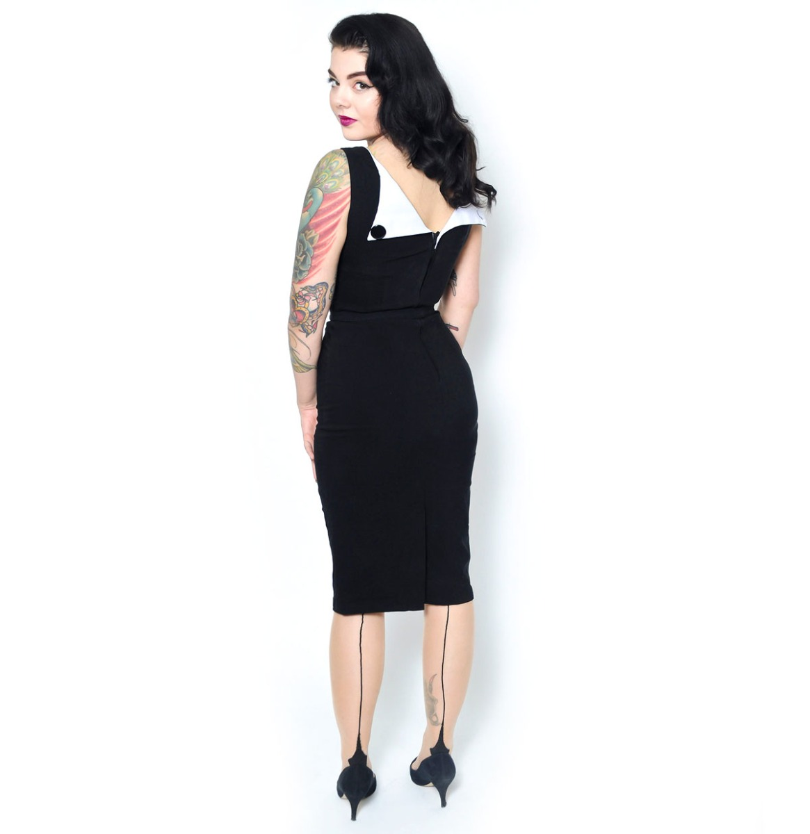 Megan Pencil Dress Zwart