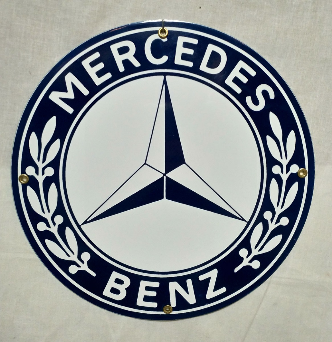 Mercedes Benz Emaille Bord