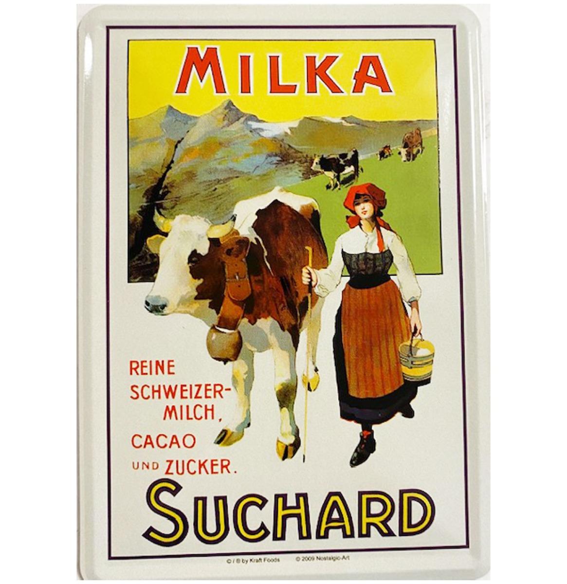 Metalen Postkaart Milka