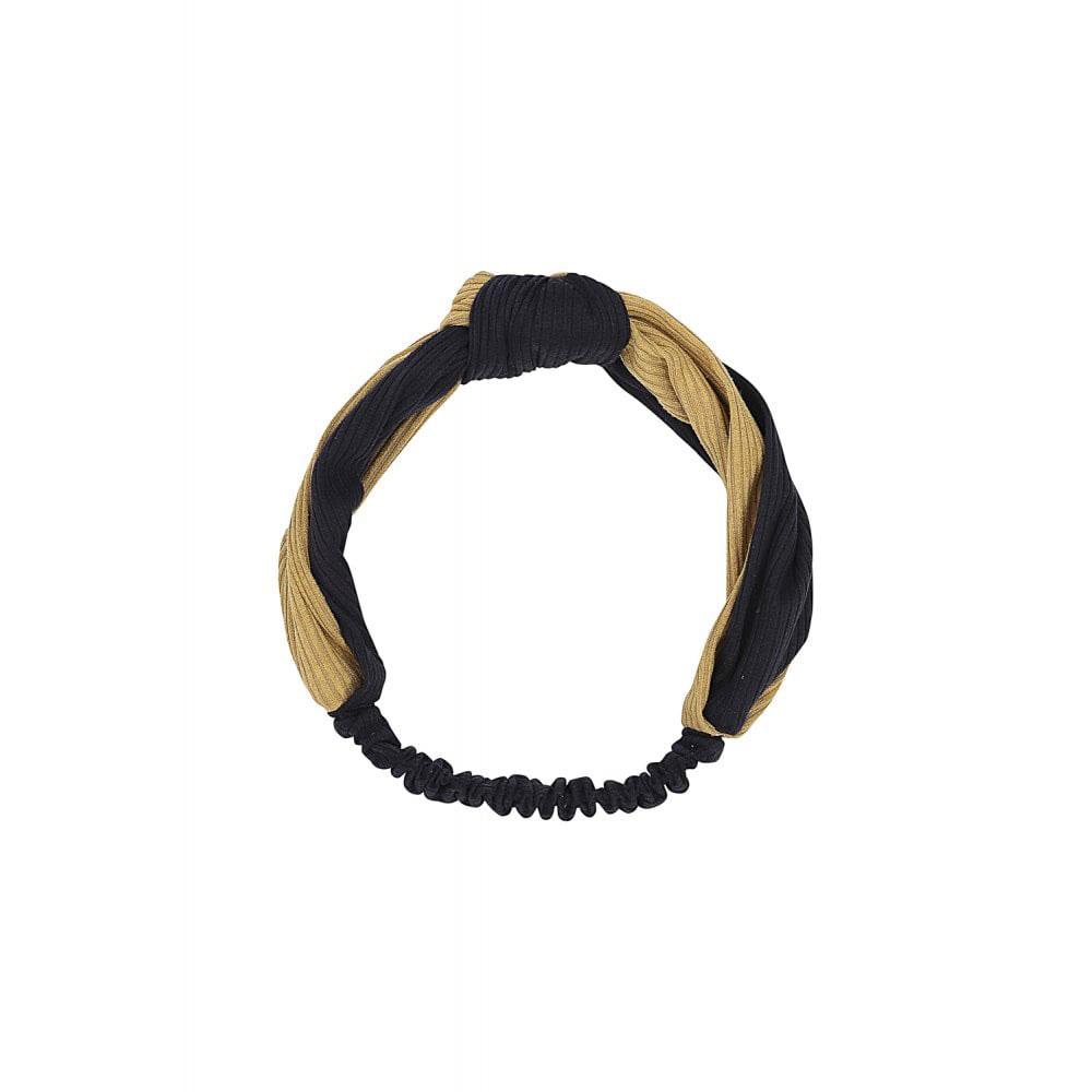 Michelle Headband Mustard/Zwart