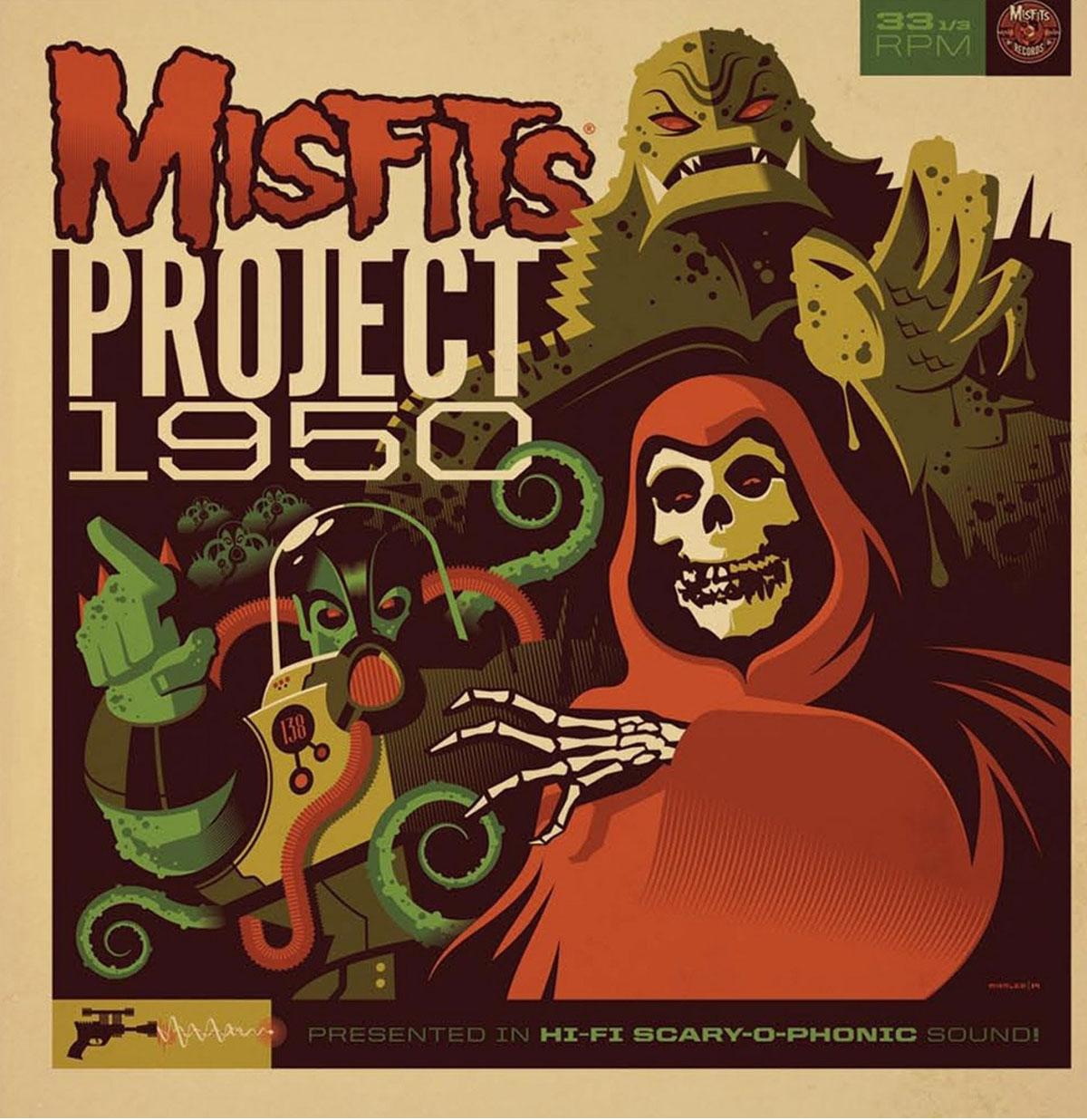 Misfits - Project 1950 LP - GESIGNEERD door de 4 bandleden