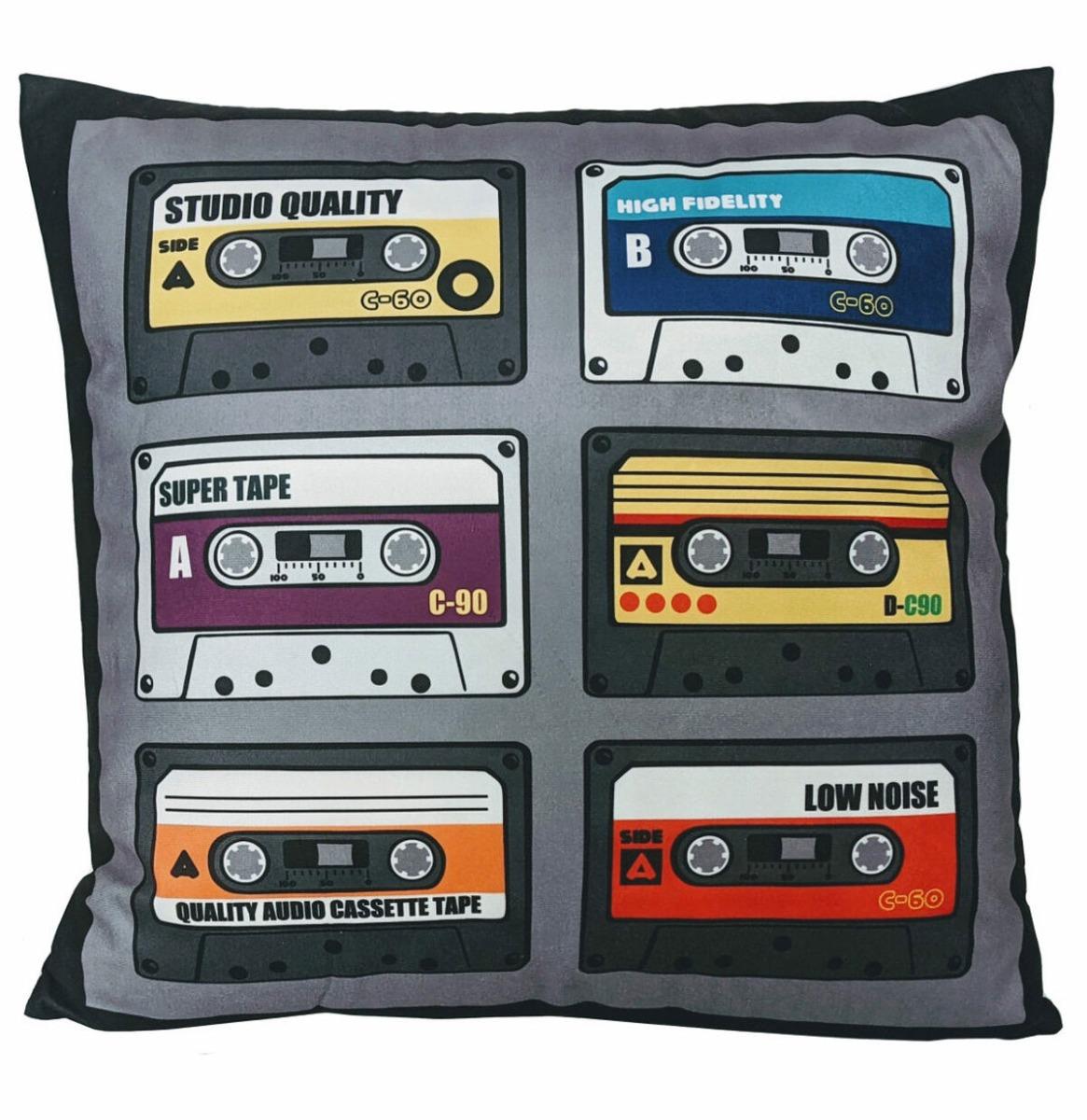 Mix Tapes Retro Fluwelen Kussen