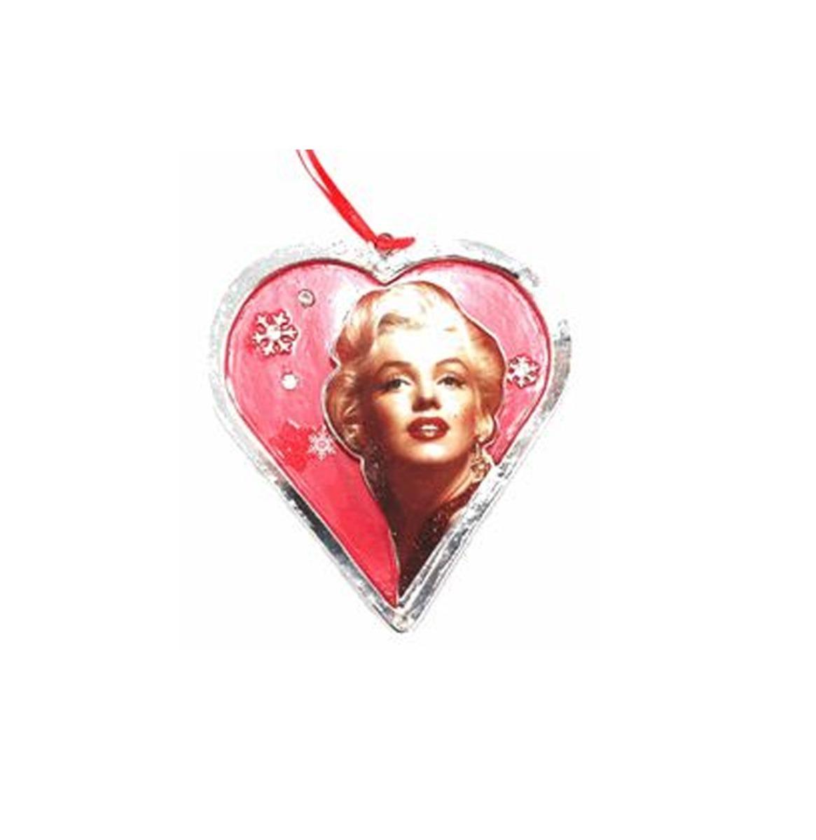 Marilyn Monroe Hart Kerst Ornament