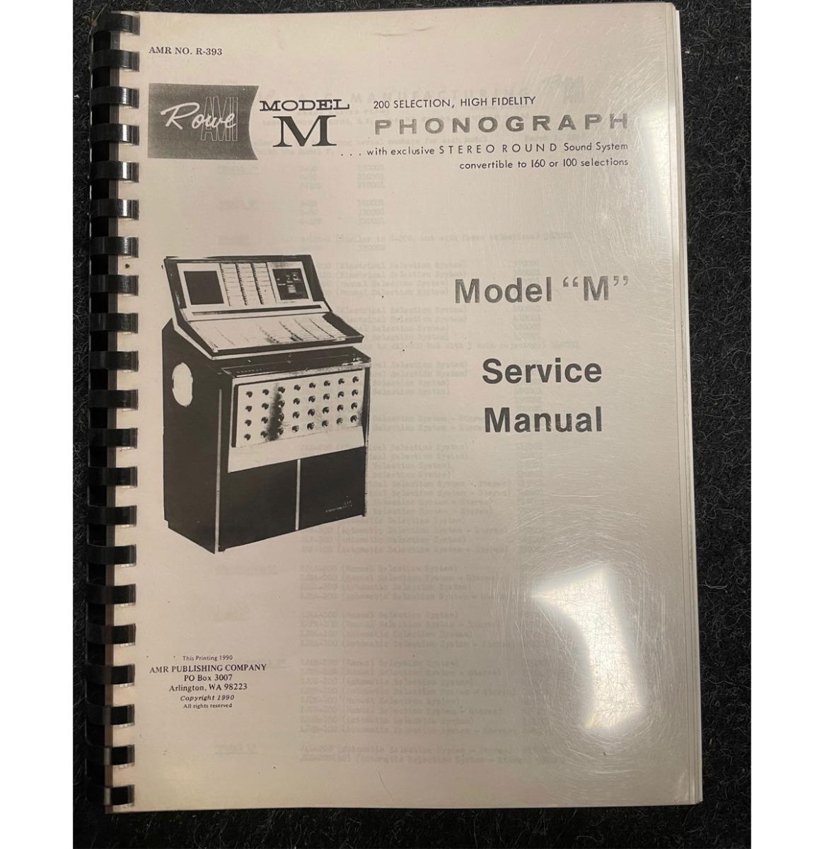Rowe Model M manual