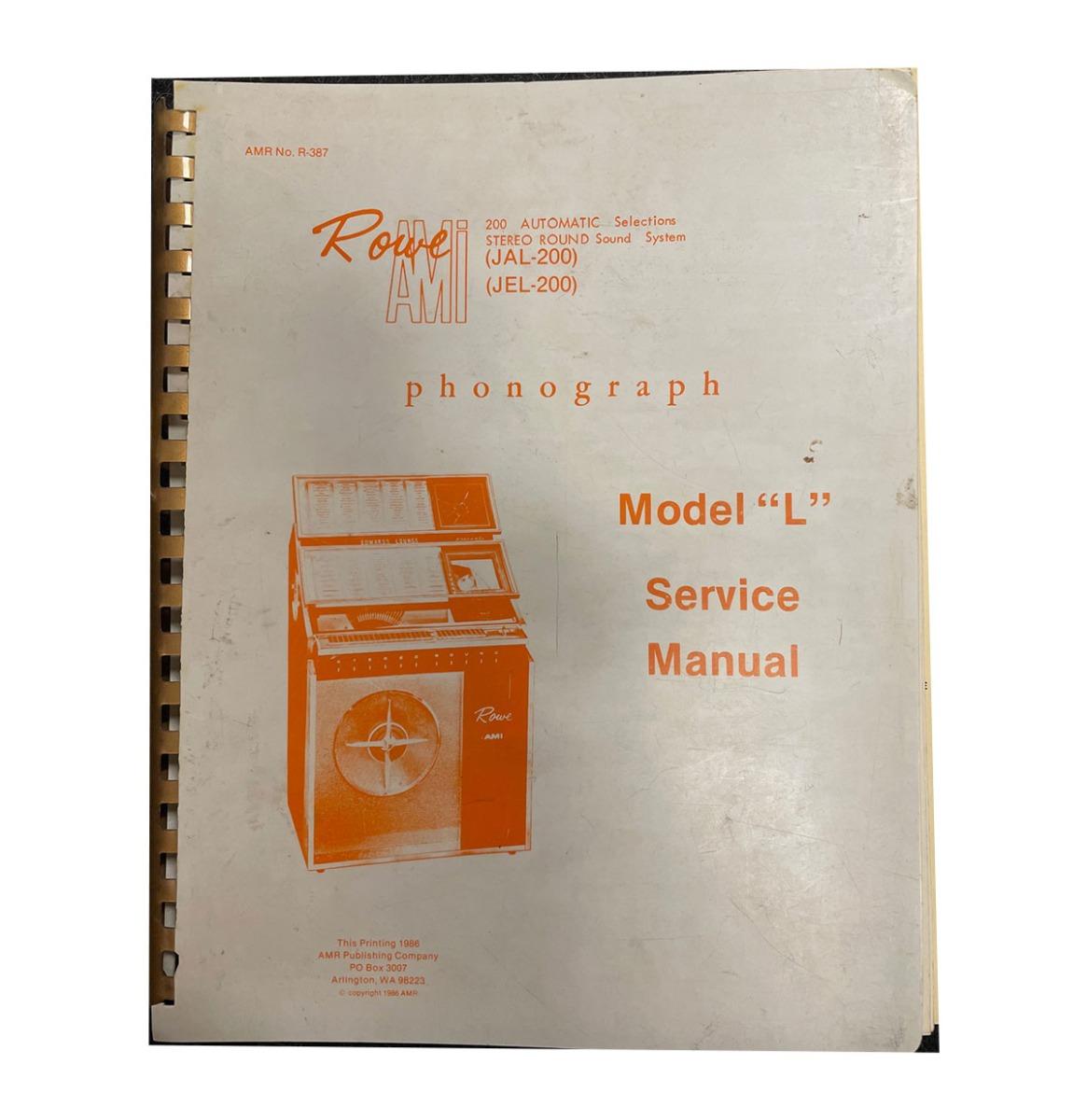 Ami model L - Service Manual Pre-owned