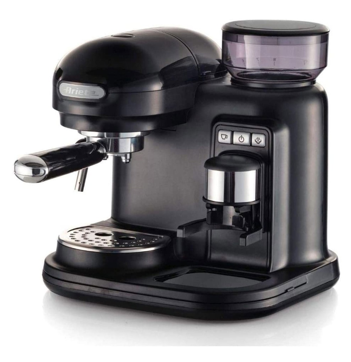 Ariete Moderna Espresso Machine - Met Geïntegreerde Koffiemolen Zwart