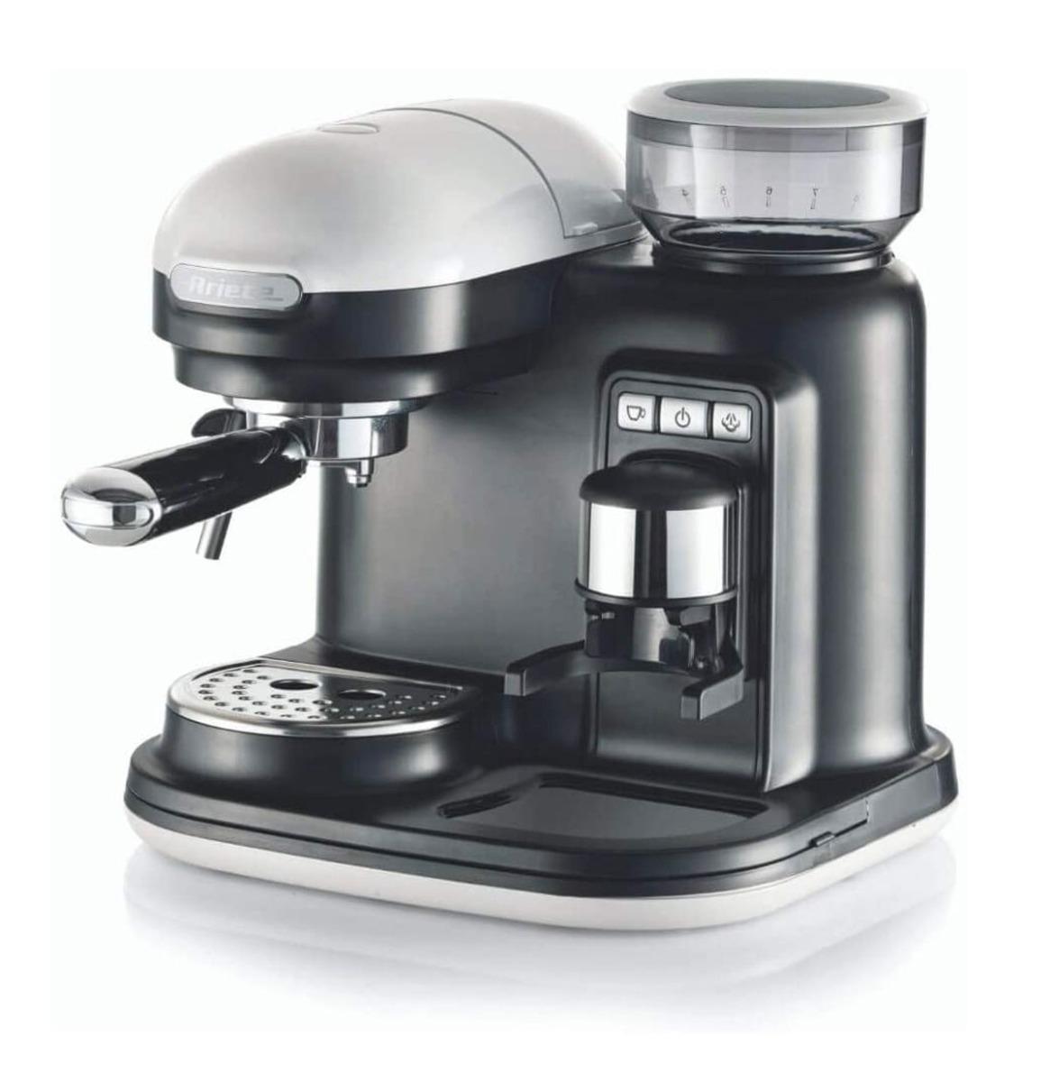 Ariete Moderna Espresso Machine - Met Geïntegreerde Koffiemolen Wit