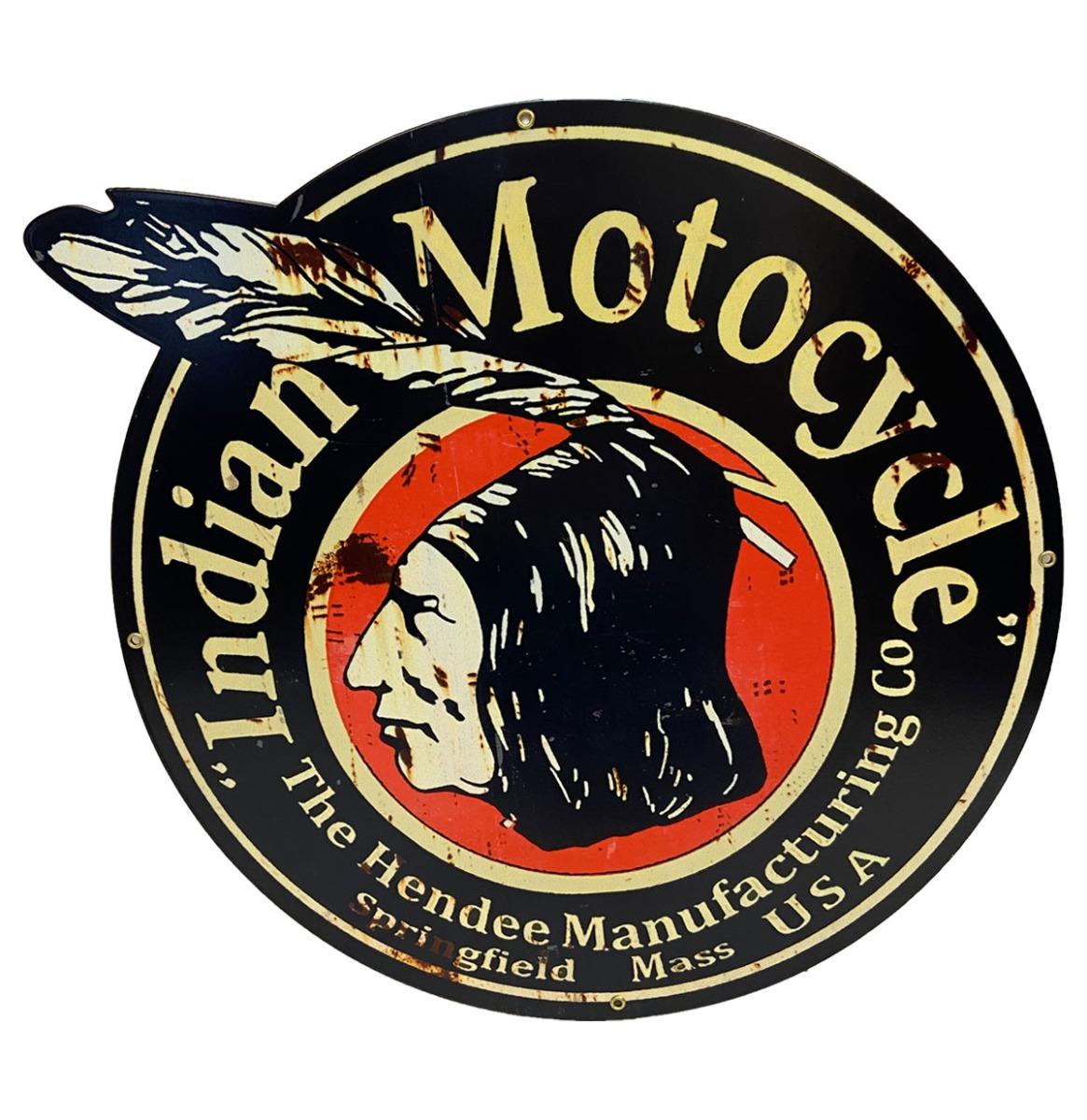 Indian Motorcycles Hendee - Metalen Bord 40 x 35 cm