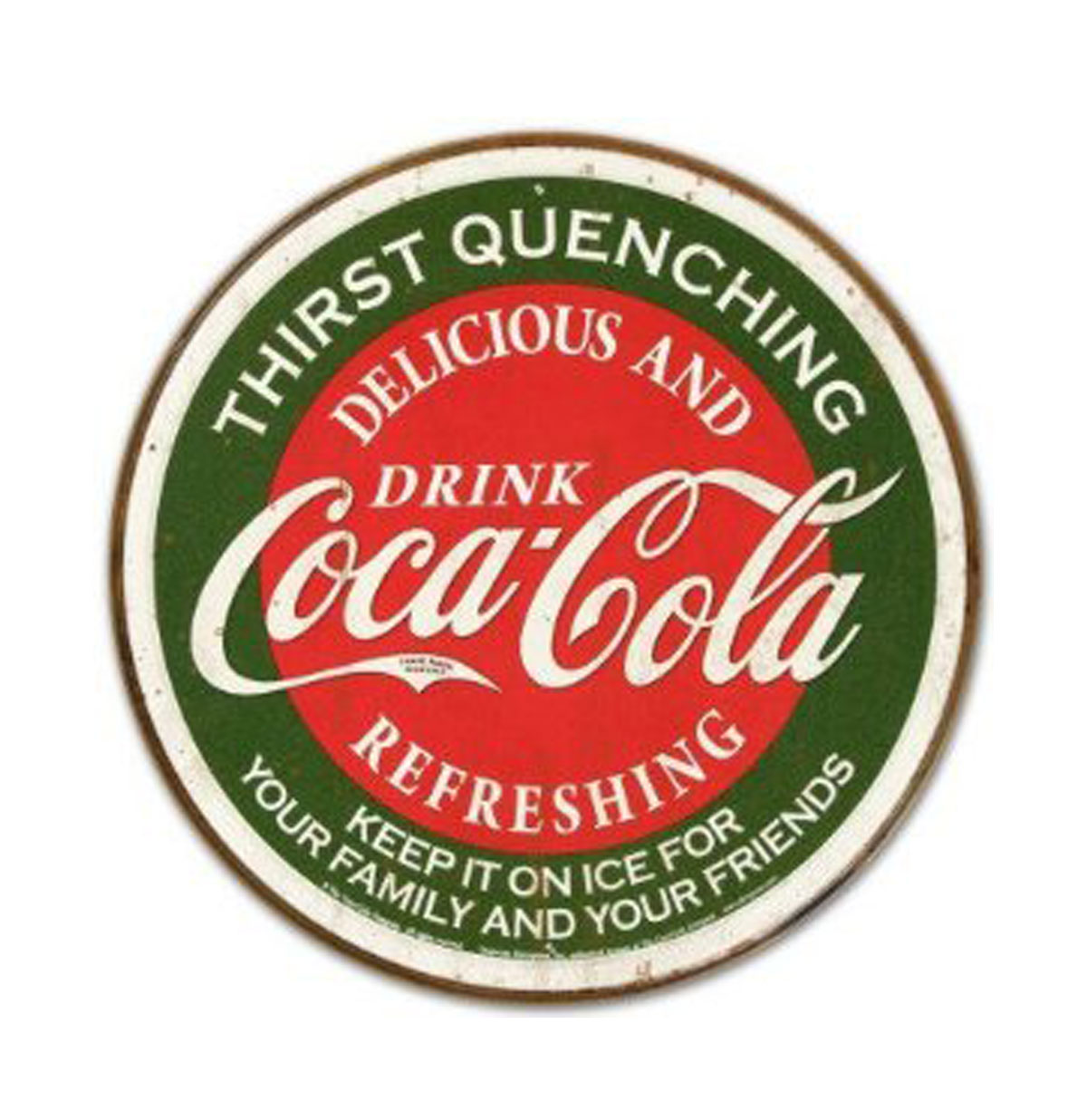Metalen Poster - Coca Cola, Thirst Quenching