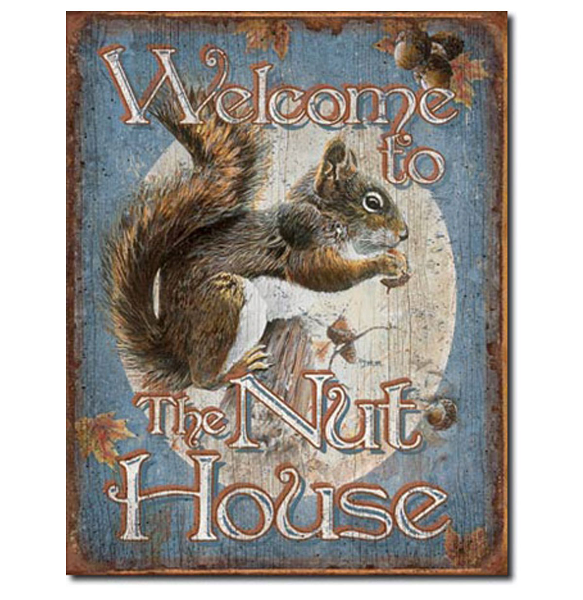Welcome to the Nut House Metalen Bord