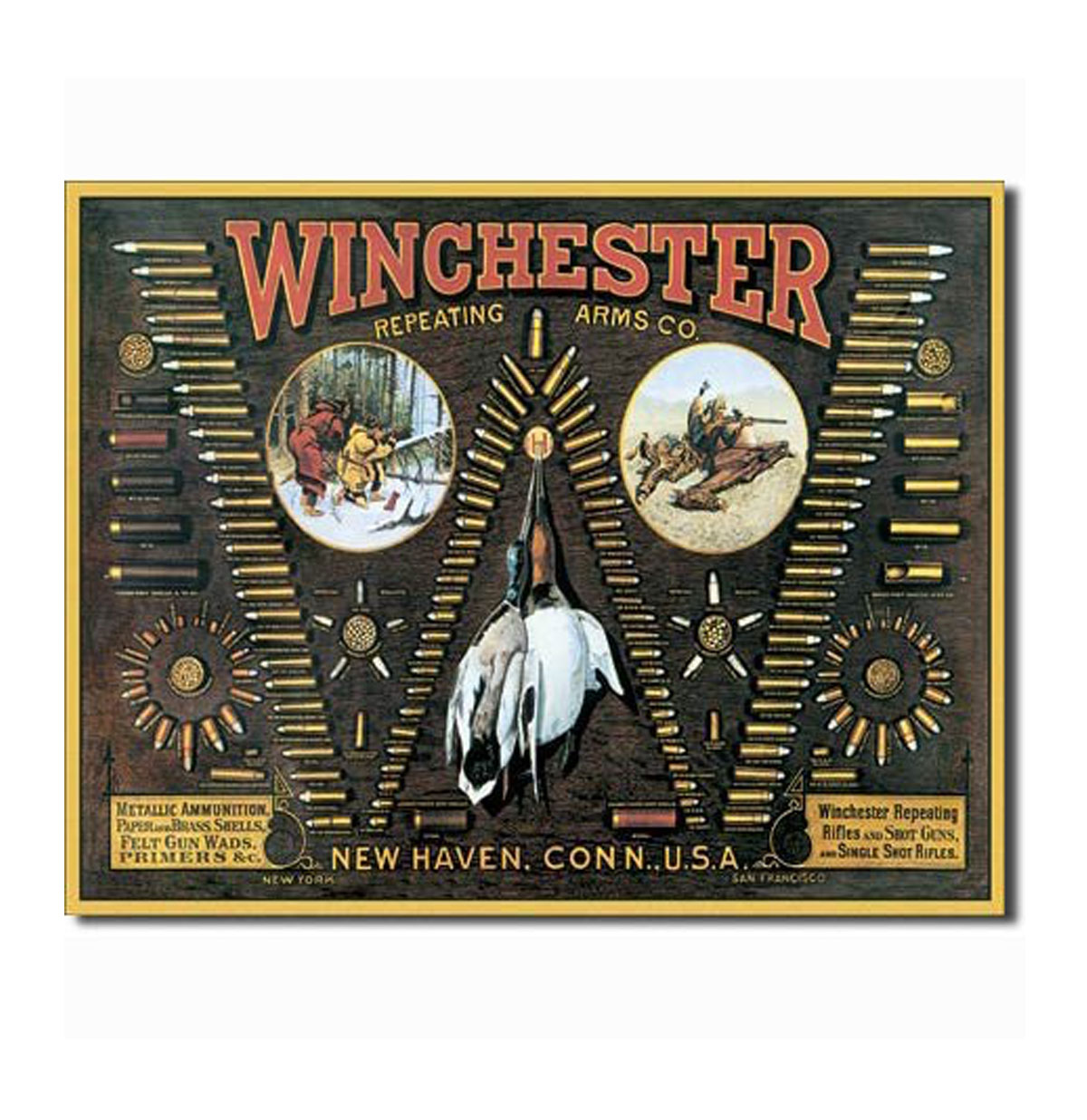 Winchester Repeating Arms Co. Metalen Bord