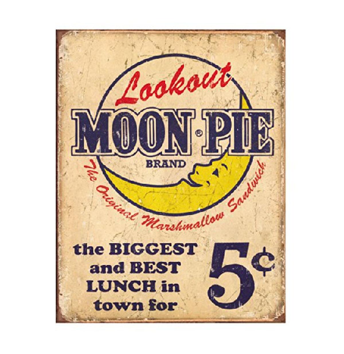 Lookout Moon Pie Brand Metal Sign