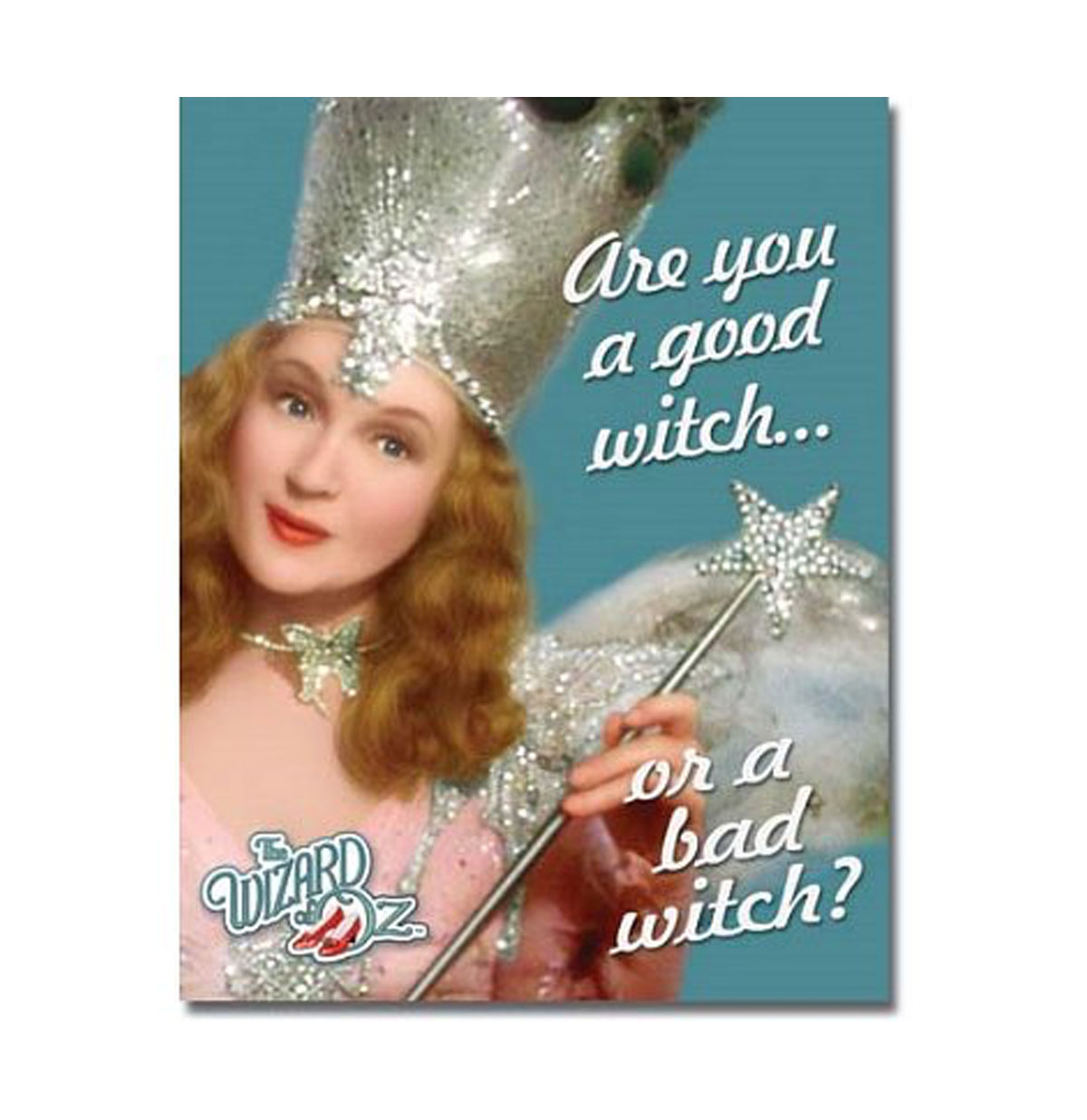 The Wizard of Oz Movie Are You a Good Witch or Bad Witch Metalen Poster