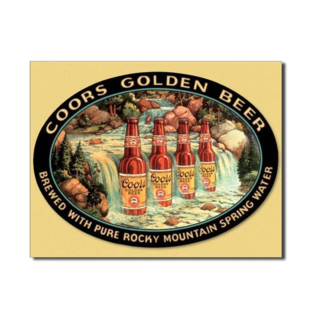 Coors Golden Beer Metalen Bord