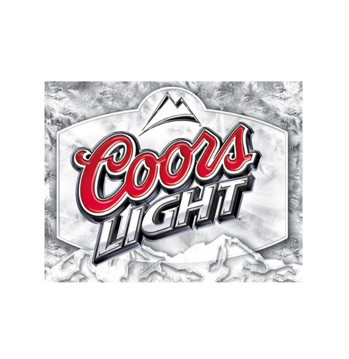 Coors Light Beer Metalen Bord