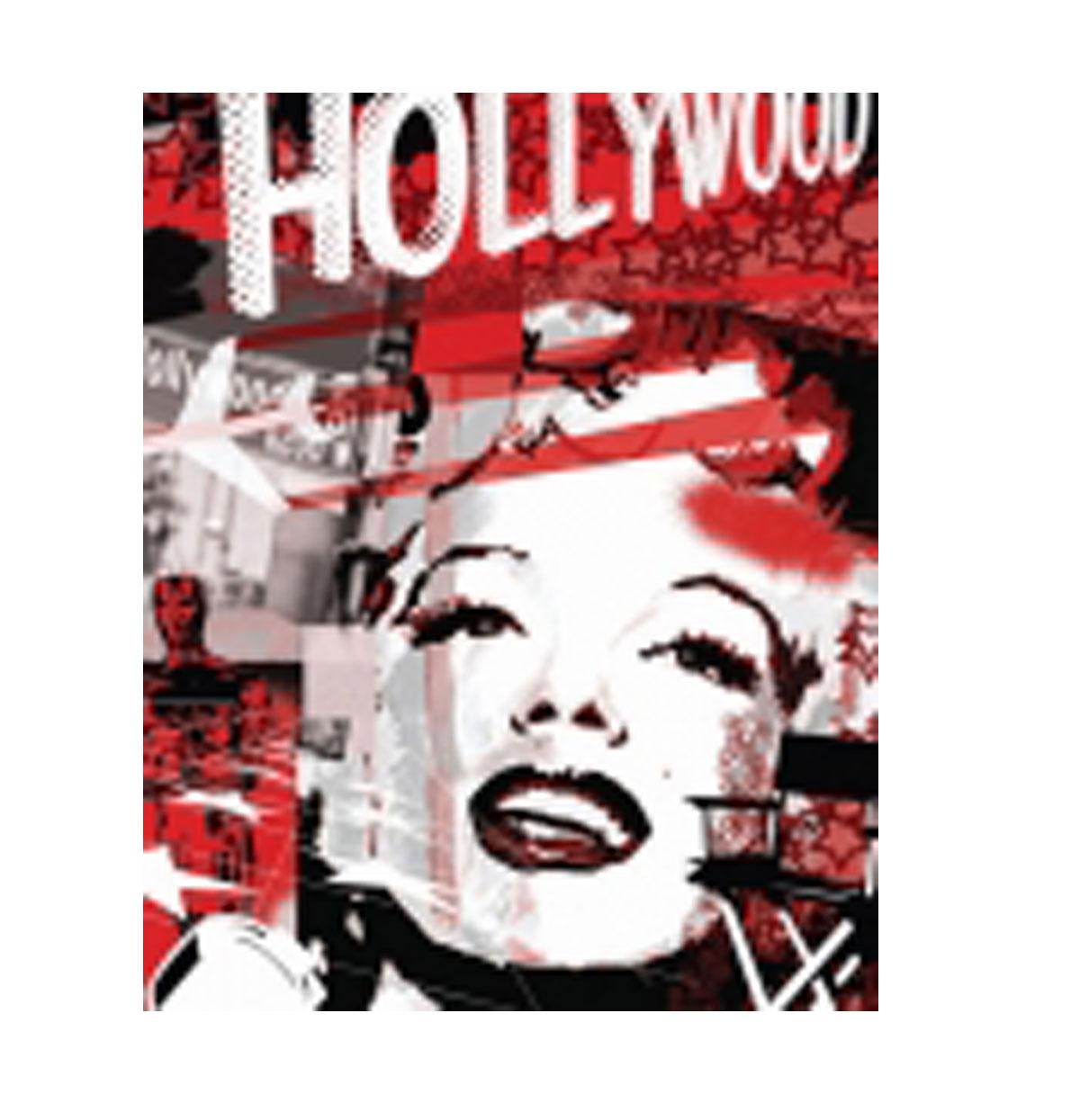 Metalen Poster Marilyn Monroe Hollywood Graffity Red