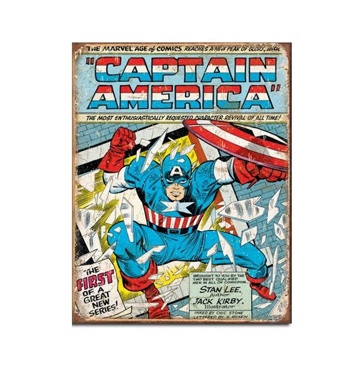Metalen Poster - Captain America The First Of A Great New Series