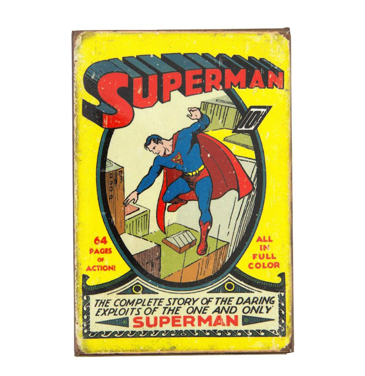 Metalen Poster - The One And Only Superman 10c